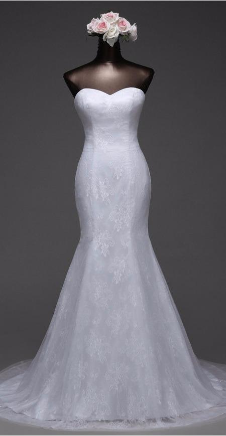 vestido novia sirena talla 6 8 y 10 escote corazón np 04 - $ 135.990
