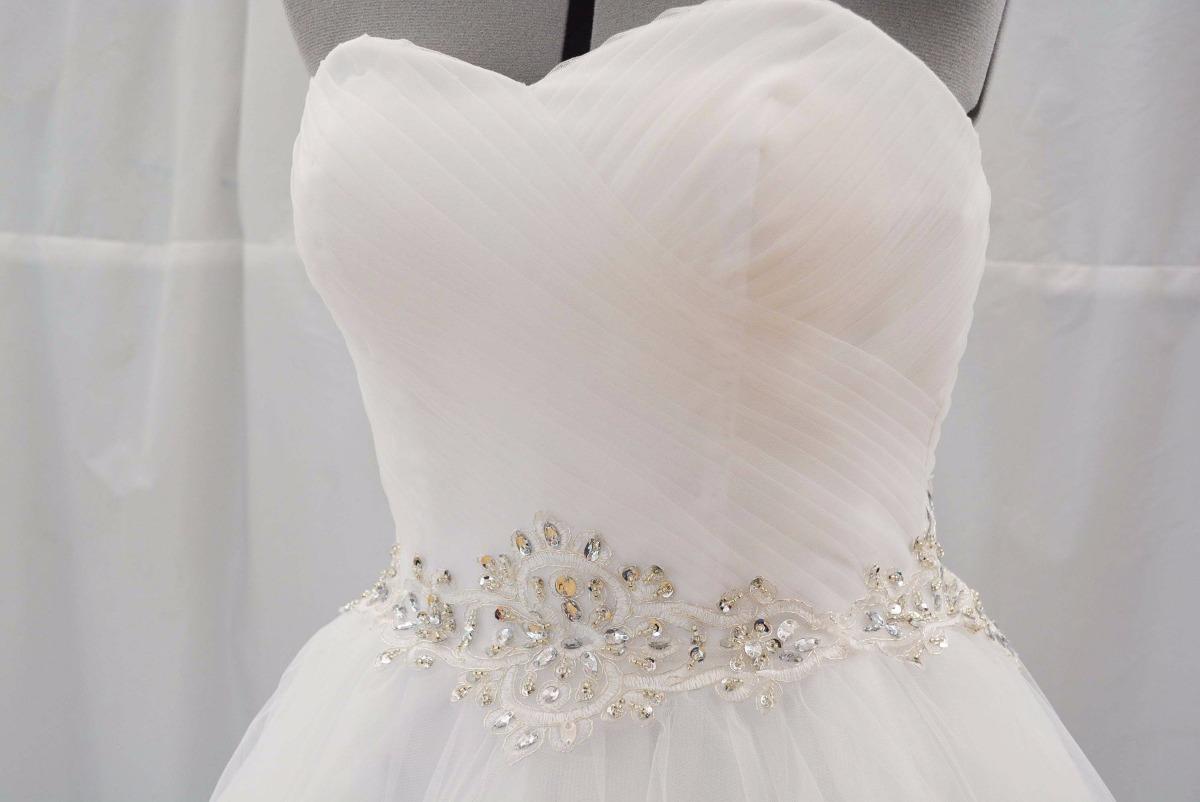 Vestido Novia Strapless Corazon Blanco Falda Tull Oferta