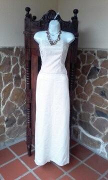 vestido novia t:s elegante sencillo palabra de honor 2 pieza