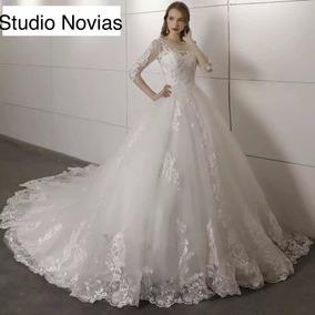 Vestido Novia Vestidos Elegante Princesa Barato Encaje Bepe