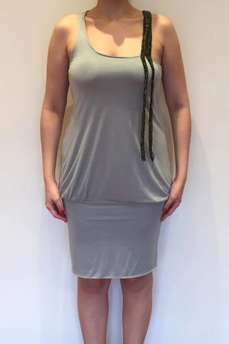 vestido novo zara cinza