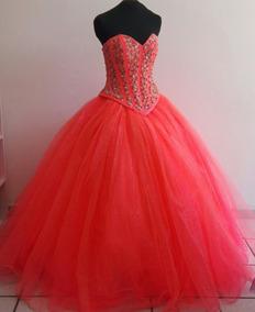 Vestidos De Xv Color Rosa Neon Mujer Ropa Bolsas Y