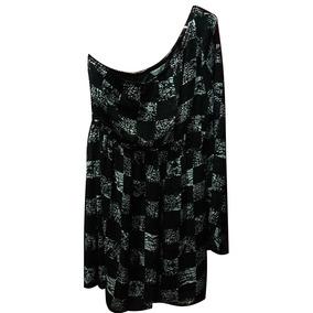 64ad399c69 Vestido Nuevo De Un Hombro Cuadros B n Marca Lob Talla 3 (g)