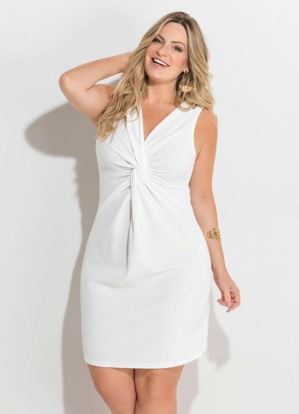 b847ffaba7 Vestido Off White Plus Size Natal Réveillon Roupas Femininas - R  94 ...