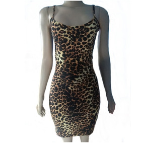 7de70290f0a0 Vestido Animal - Vestidos Femeninos Casual Marrom-escuro com o ...