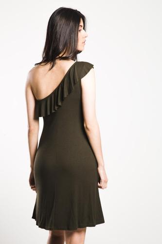 vestido one shoulder