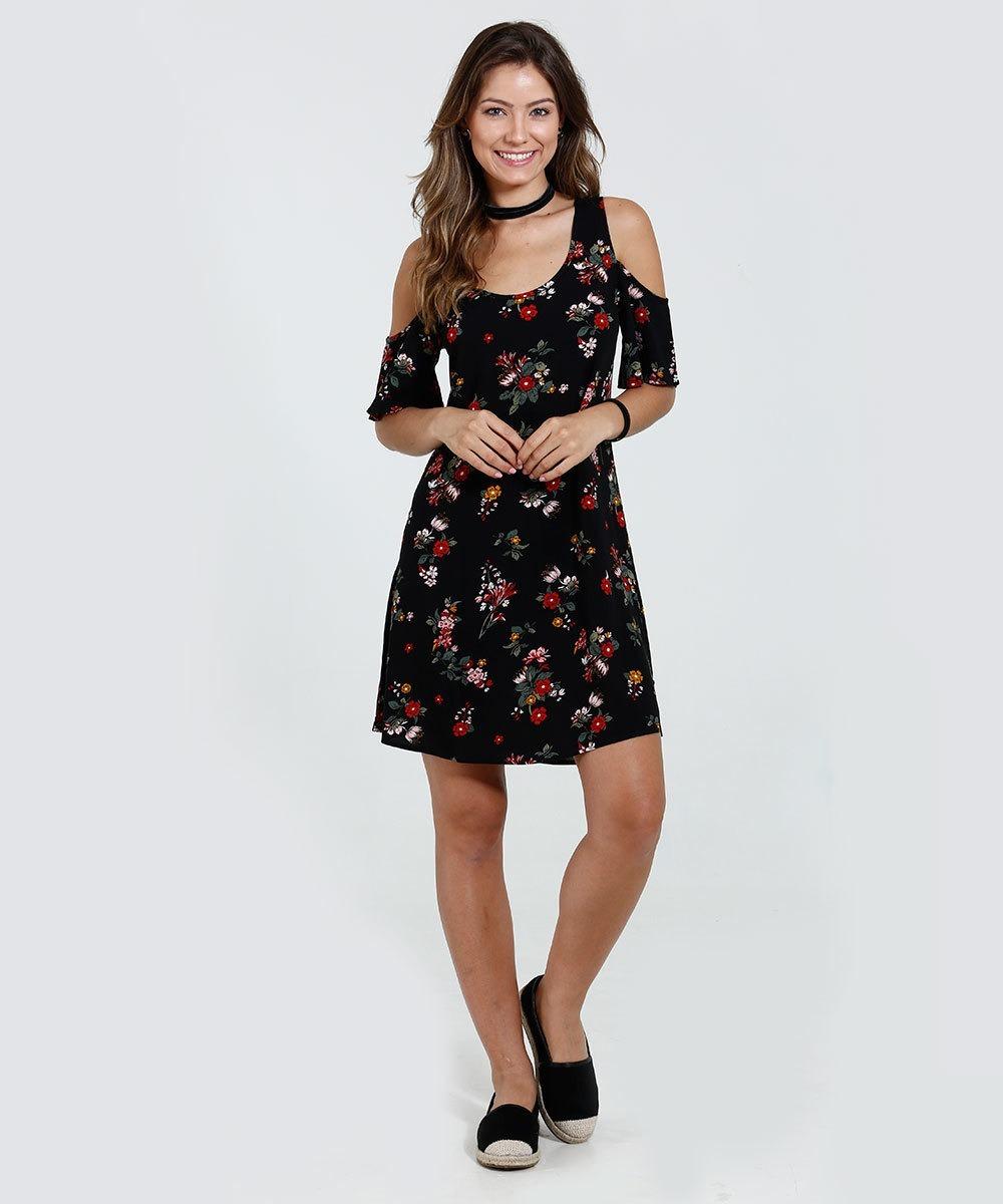 4719e95b0 Vestido Open Shoulder Estampa Floral - R$ 59,90 em Mercado Livre