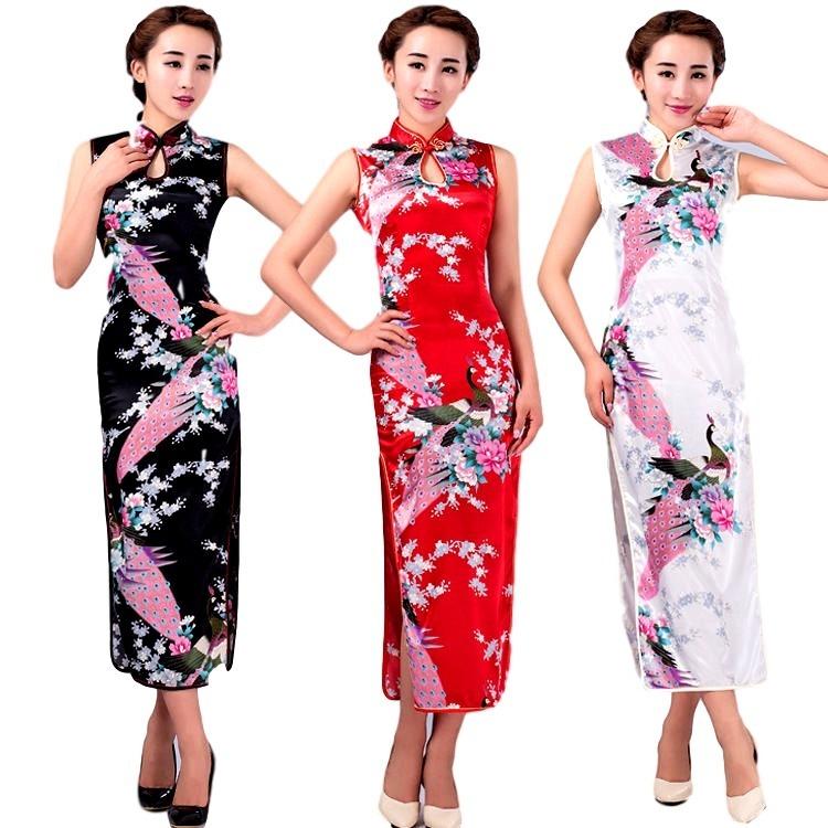 92acc6424 Vestido Oriental Japones Cheongsam Exclusivo C442 - R  109