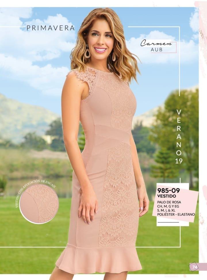 Vestido Palo De Rosa Cencaje Cklass 985 09 Pv 2019