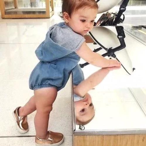 vestido pañalero bebe niña 10/12 meses cn envio