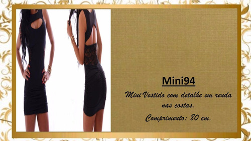 vestido panicat festa balada  renda transparência mini94