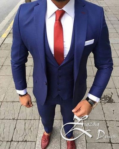 vestido paño traje formal slim fit moderno juvenil grado