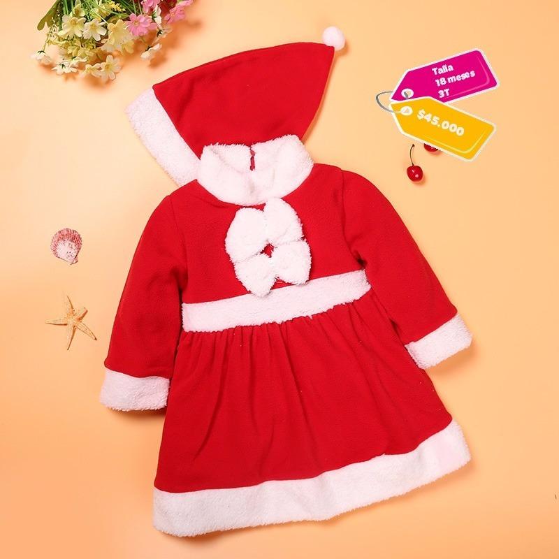 Vestido Papa Noel Nina Bebe 45000 En Mercado Libre - Bebes-vestidos-de-papa-noel