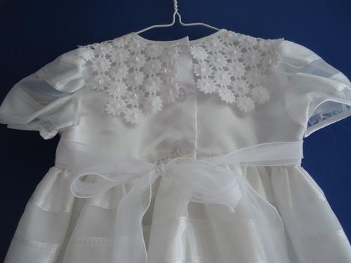 vestido para bautizo talla 2