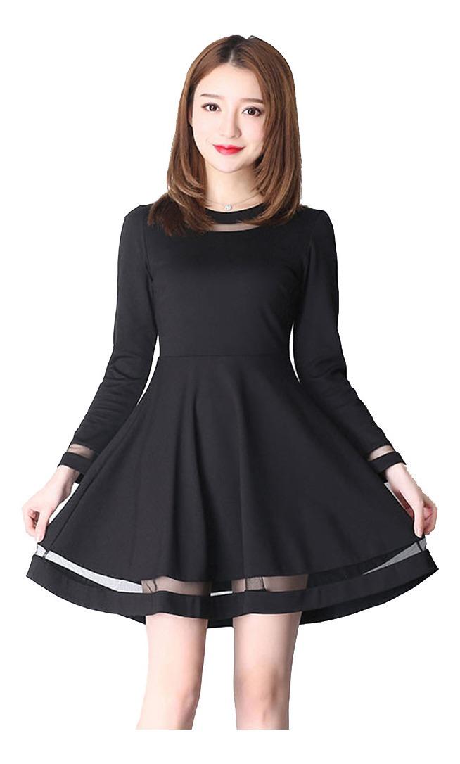 Vestido Para Bautizos De Día Casual Manga Larga R10594