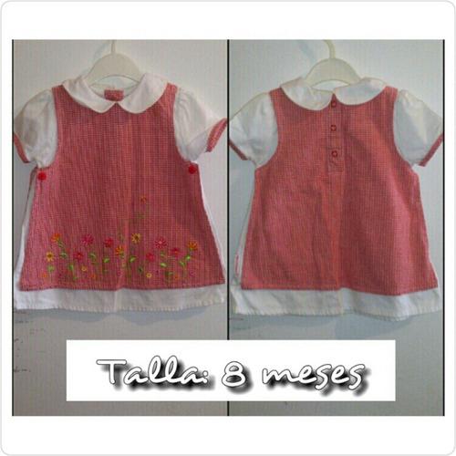 vestido para bebé 8 meses