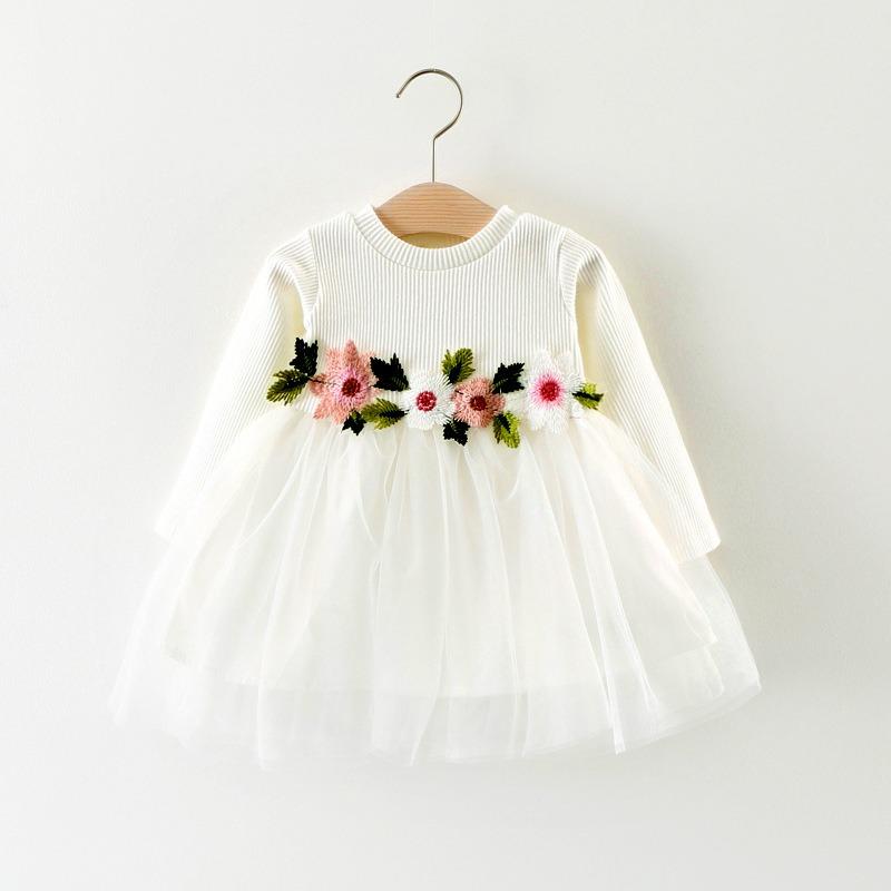 ba8e9ae29 Vestido Blanco Para Bebe -   450.00 en Mercado Libre