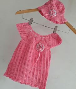 Vestido Para Bebe Tejido A Crochet