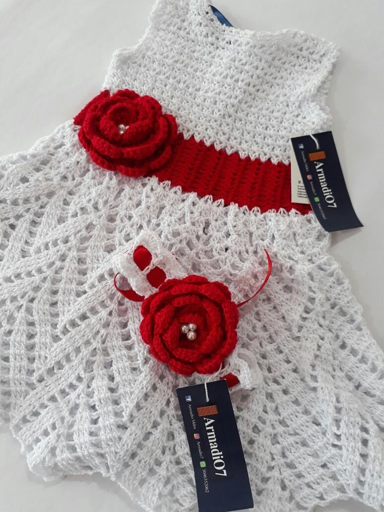 Vestido Para Bebe Tejido A Crochet 70000 En Mercado Libre