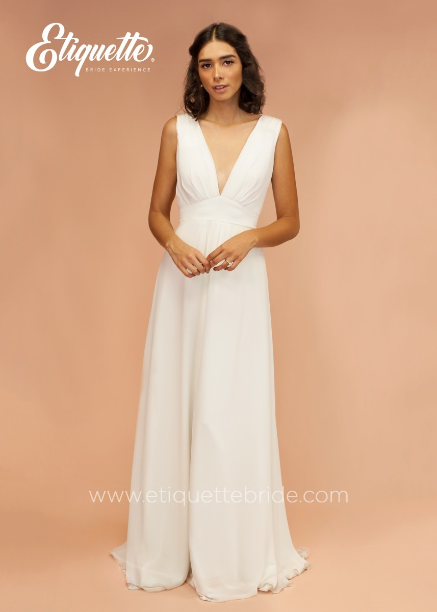 fe0dcf902 vestido para boda civil novia cocktail bonito blanco largo. Cargando zoom.