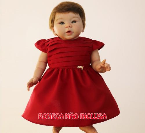vestido para boneca reborn katitus