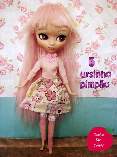 vestido para bonecas pullip, blythe, barbie
