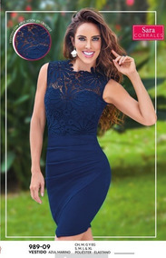 Vestido Para Dama Color Azul Marino 989 09 Cklass 1 19