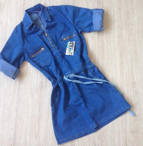 vestido para dama corto de jeans 3/4 talla 8