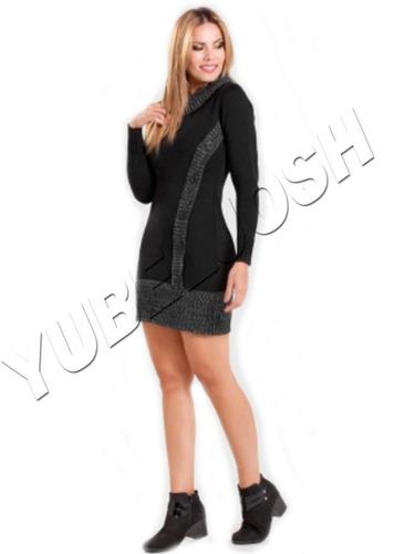 vestido para dama corto strech tipo sweter saco buso algodon