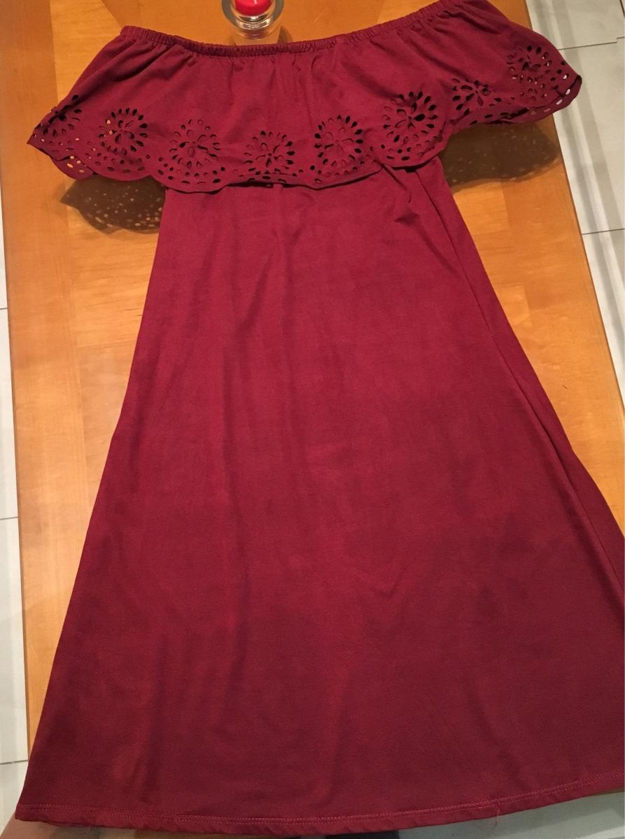 d577f94e61 Vestido Para Dama Mujer Casual Rojo Sin Hombros -   350.00 en ...