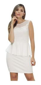 Vestido Para Dama Perla Bolero Con Detalles Cuello B.c