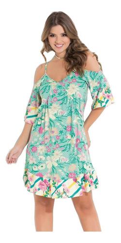 vestido para festa de formatura curto floral verde