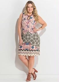 952114bde Vestido Viscose Estampado Barrado - Vestidos Femeninos Curto com o Melhores  Preços no Mercado Livre Brasil