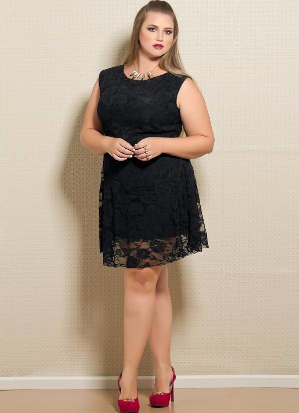 133e376d6 vestido para gordinha moda grande vestido de renda plus size. Carregando  zoom.