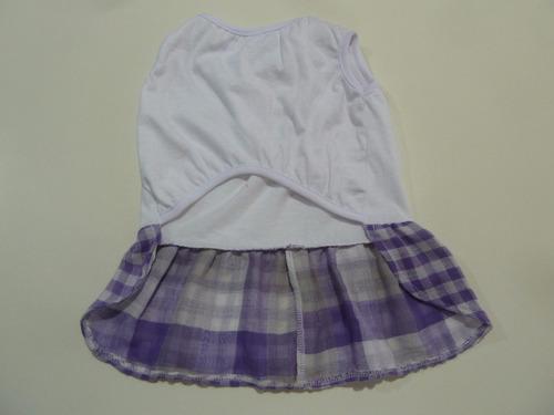 vestido para hembra de algodón con falda acuadrille