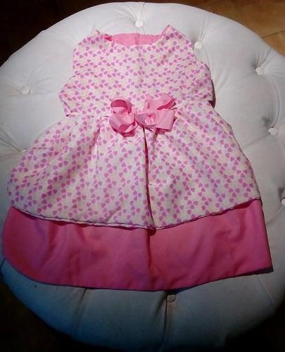 vestido para hembra estampado con moño