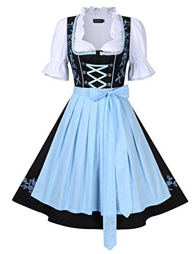 Vestido Para Mujer Glorystar Dirndl Aleman 3 Piezas Trajes D ... 273c45ebe33