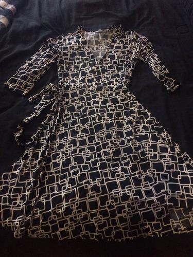 vestido para mujer hermoso negro con blanco envío gratis