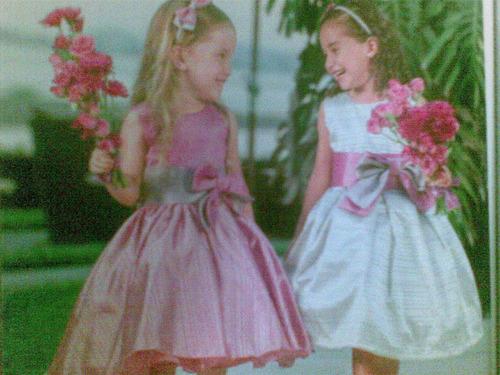 vestido para nena tejido a mano