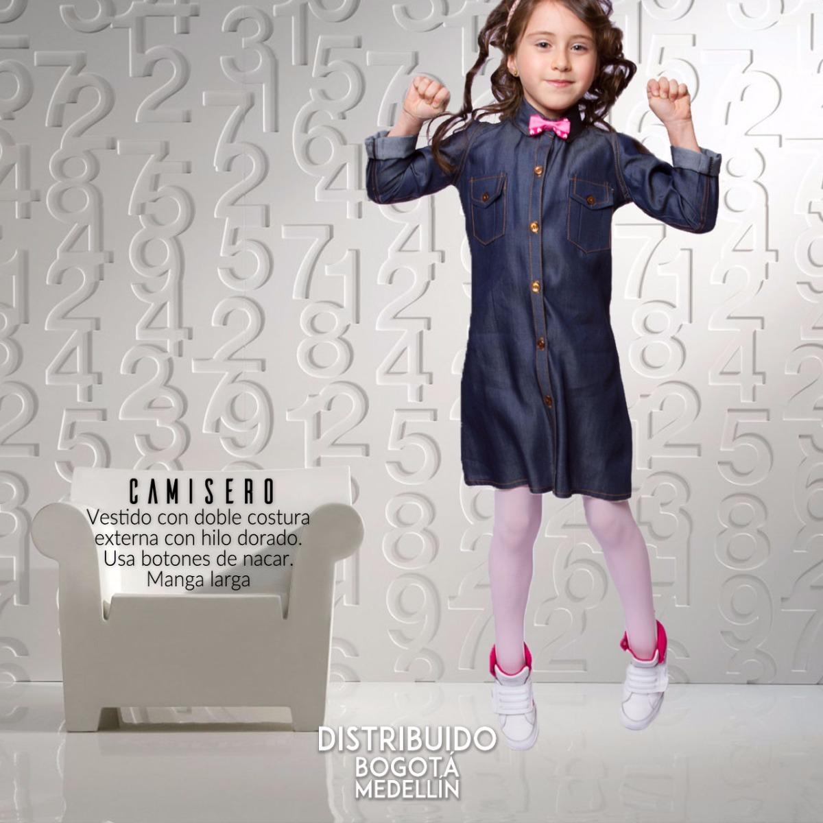 f4e47bff24 Vestido Para Niña Camisero By Vita Plaud Kids - Talla 4 -   105.000 ...
