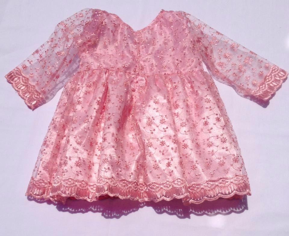 Vestido Para Niña Color Rosa En Velo - $ 28.000 en Mercado Libre