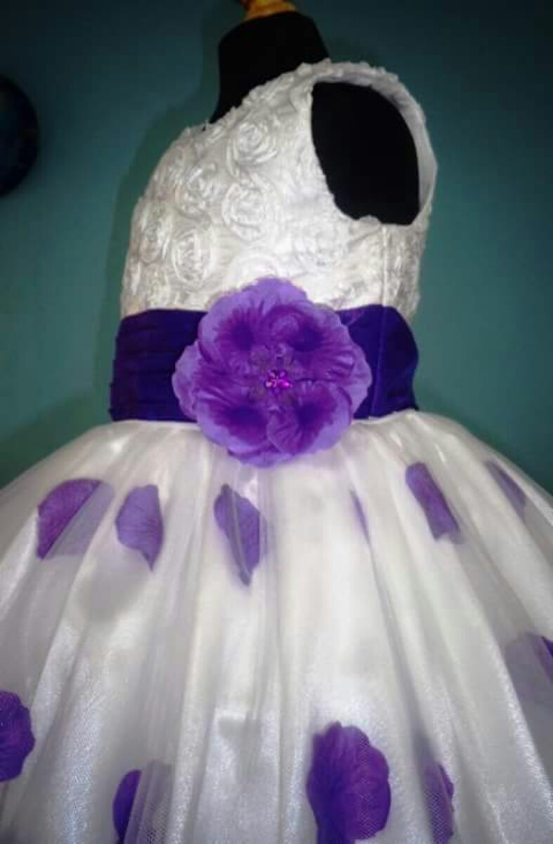 Único Vestido De Dama De Pétalos De Color Rosa Ideas Ornamento ...