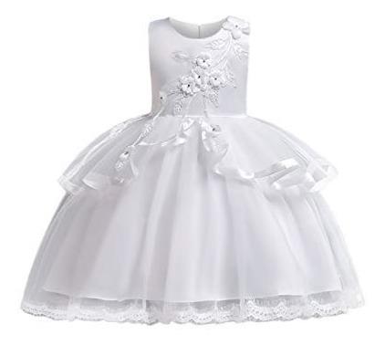 marca famosa bonito diseño nuevo diseño Vestido Para Niña Cuello Redondo Encaje Primera Comunión Fie