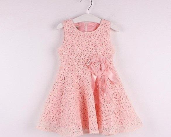 3e5051f01 Vestido Para Niña De Encaje Con Moño Rosa Moda Japonesa