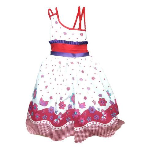 vestido para niña flores amplio  nueva colección