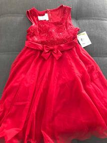 0ed673a52a Vestido Para Niña Talla 14 Bonnie Jean! Rojo Hermoso!