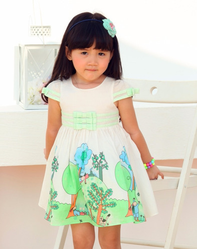 vestido para niña talla 4 años nuevos lovely butterfly