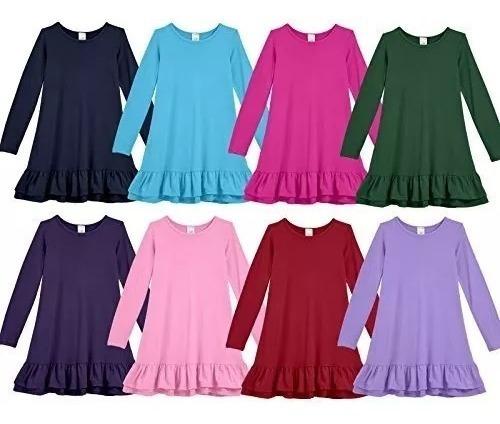 vestido  para niñas casual corto en algodon