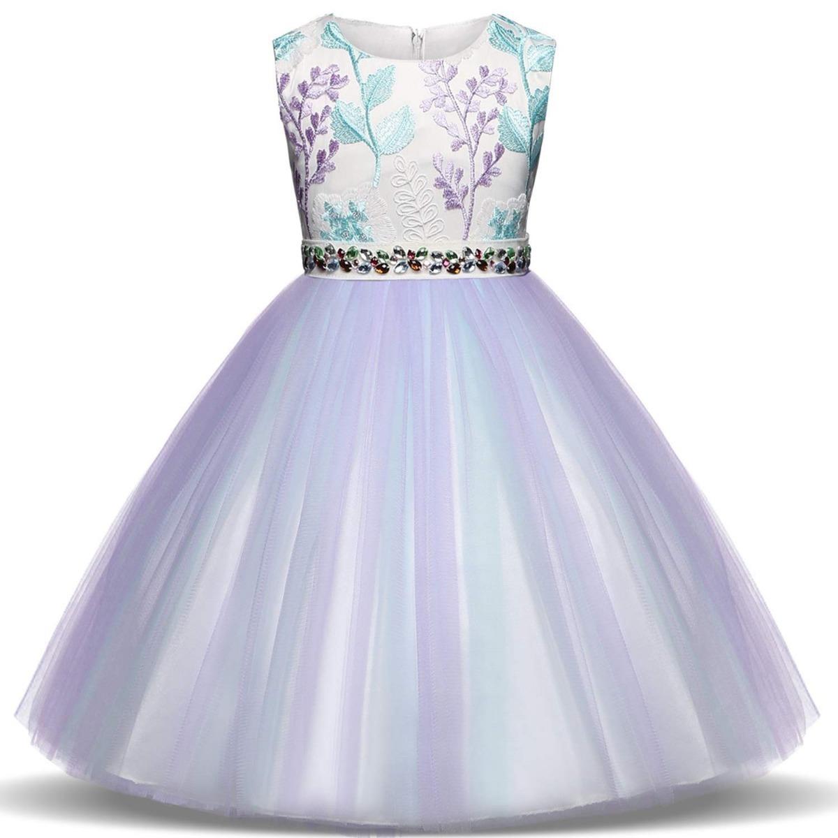 vestido para niñas morado fiestas bodas ttyaovo. Cargando zoom. 2d5ef8af0b51