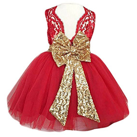 8fed9e8ba Vestido Para Niñas Rojo Bodas Fiestas Comunion Fkkfyy